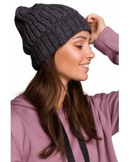 Jesienno-zimowa czapka dla mamy BK058 grafit