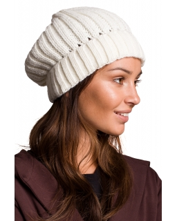 Jesienno-zimowa czapka dla mamy BK058 ecru
