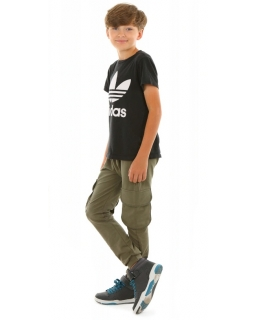 Spodnie bojówki dla chłopca, dresowe baggy, tanie dresy chłopięce