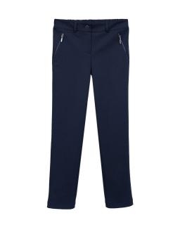 Eleganckie spodnie dziewczęce 116-170 408B/SM/20 granatowe