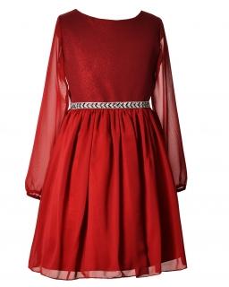 Sukienka na przyjęcie 134-158 Madison bordowy