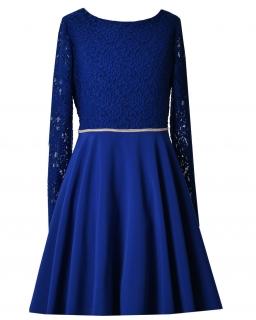 Rozkloszowana sukienka dla dziewczynki 146-164 Ruby granat