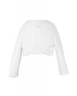 Połyskujące bolerko dla dziewczynki 86-158 Diana biały