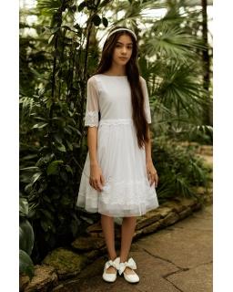 Sukienka do I Pierwszej Komunii 1SM-03A biały