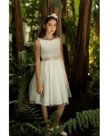 Sukienka na przebranie po komunii 134-158 1SM-23 ecru