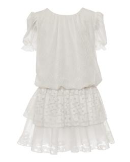 Koronkowa sukienka dla dziewczynki 140-158 1SM-08 ecru 1