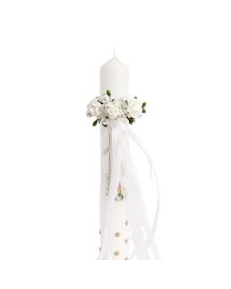 Ozdoba na świeczkę z perełkami OSG136