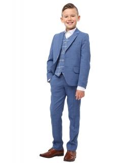 Trzyczęściowy garnitur dla chłopca 122-152 Luis niebieski