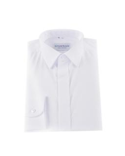 Biała koszula z plisą dla chłopca 122-164 M02