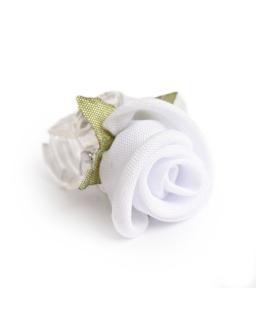 Komunijna przypinka - róża z listkami WSK21