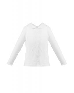 Bluzka z długim rękawem 122-152 Tamara biel