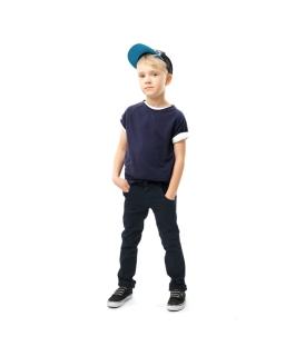 Bawełniane spodnie dla chłopca 92 - 164 Paweł granatowe
