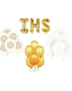 ZESTAW balonów biało-złoty BAL01