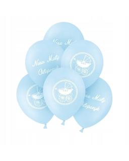 ZESTAW 6szt balonów biało-złoty BAL12