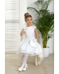 Sukienka komunijna z tiulowym dołem 134-164 Mila biel