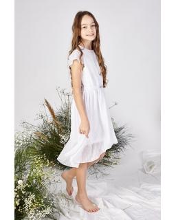 Elegancka sukienka dla dziewczynki 140-164 Ivon biel