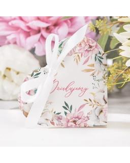 Pudełeczko podziękowanie kwiaty PSP10