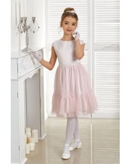 Piękna sukienka z tiulowym dołem 134-164 Audrey
