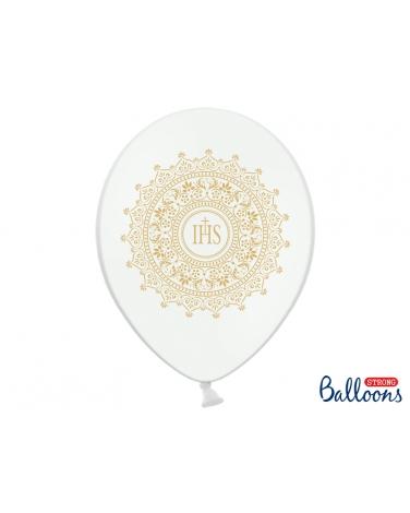 Balon komunijny z nadrukiem 6 szt. BAL17