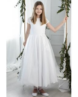 Sukienka komunijna z koronkową górą 140-152 Cynthia