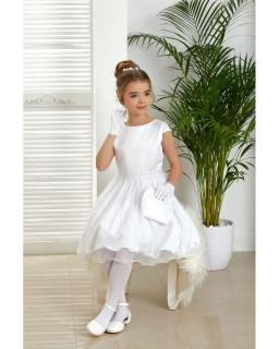 Sukienka komunijna z tiulowym dołem 134-164 Mila ecru