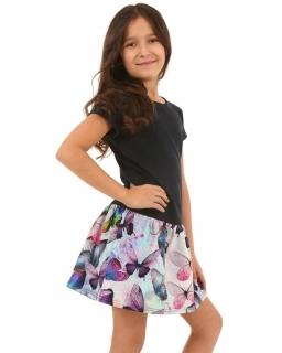 Sukienka z nadrukiem w motyle 116-158 KRP139