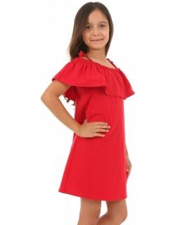 Sukienka hiszpanka na lato 116-158 KRP46 czerwona