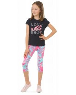 Kolorowe legginsy 3/4 116-158 KRP384 akwarela 02