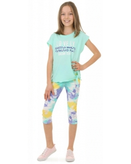 Kolorowe legginsy 3/4 116-158 KRP384 akwarela 03