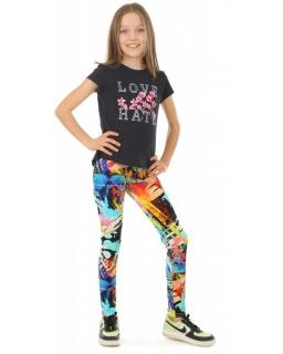 Wygodne legginsy z nadrukami 116-158 KRP367 grafika05
