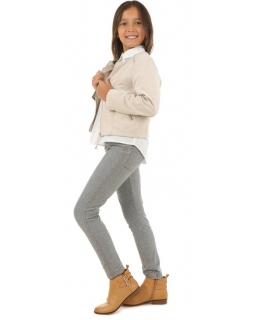 Dziewczęce tregginsy-spodnie na gumce 116-158 KRP98 szare