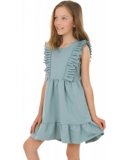 Bawełniana sukienka na ciepłe dni KRP386 morska