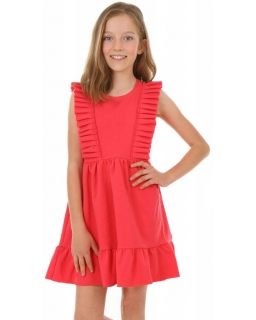 Bawełniana sukienka na ciepłe dni KRP386 koral
