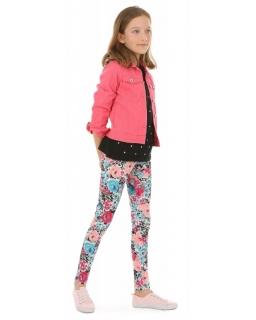 Wzorzyste legginsy dla dziewczynek 116-158 KRP387 wzór 027