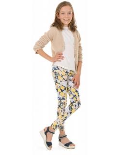 Wzorzyste legginsy dla dziewczynek 116-158 KRP387 wzór 028