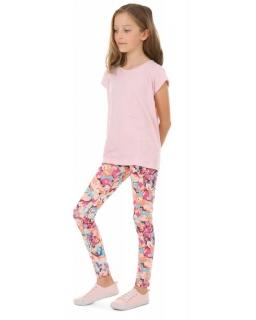 Wzorzyste legginsy dla dziewczynek 116-158 KRP387 wzór 029