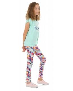 Wzorzyste legginsy dla dziewczynek 116-158 KRP387 wzór 030