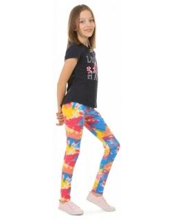 Kolorowe legginsy dziewczęce 116-158 KRP388 akwarela 01