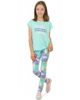 Kolorowe legginsy dziewczęce 116-158 KRP388 akwarela 03