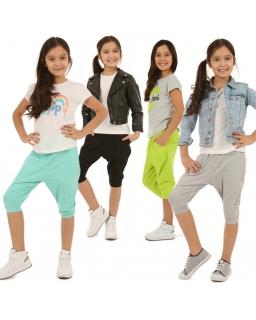 Spodnie baggy 3/4 116-158 KRP28 4 kolory