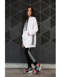 Długa bluza dziewczęca 134-170 1S-136A biała 1