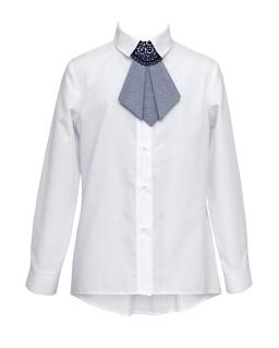 Stylowa koszula z krawatką 134-170 1S-128A biała 1