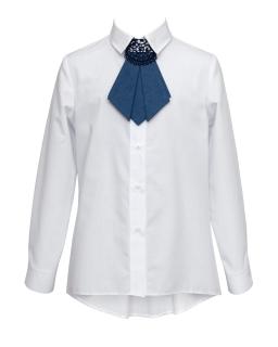 Stylowa koszula z krawatką 134-170 1S-128B biała 1