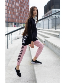 Modne spodnie z dzianiny 134-170 0AW-37D różowe 1