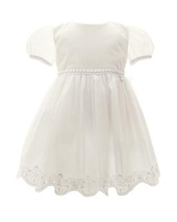 Dziewczęca sukienka do chrztu 68-92 1/SMM/-05B ecru 1