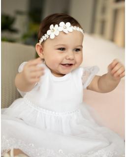 Dziewczęca sukienka do chrztu 68-92 1/SMM/-05A biała 1