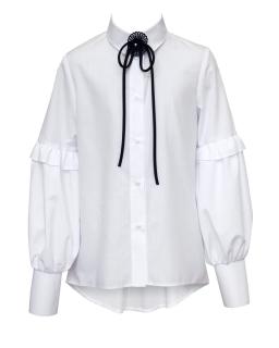Efektowna szkolna koszula z rękawami 128-164 1S-103
