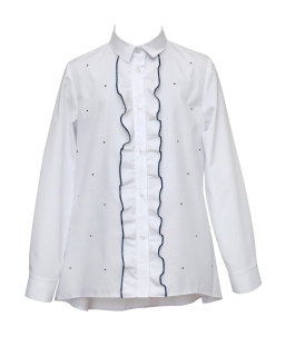 Elegancka koszula z żabotem 122-158 1S-108