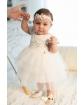 Piękna sukienka z tiulu 68-92 1/SMM/-04B ecru 1