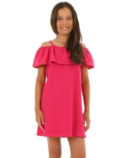 Sukienka hiszpanka na lato 116-158 KRP46 fuksja
